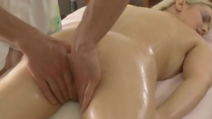 Dear lass gets lusty poundings after having massage