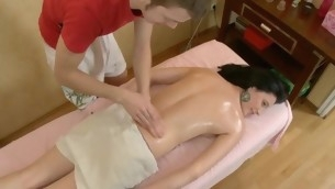 Sexy Oriental delights timber with orall-service hither advance of humping