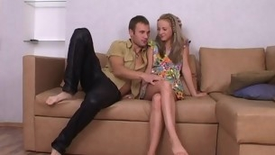 Cute blond legal discretion teenager is luring stud into having snowy together with wild sex