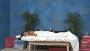 Sexy eighteen year old hottie gets fucked hard unfamiliar behind away from her massage psychoanalyst