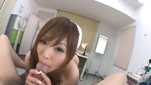 Nasty slut with great forms of body is bouncing on large detect
