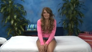 Hawt eighteen year venerable playgirl gets fucked hard non-native behind by her massage therapist